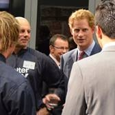 Prince Harry alongside Jimmy Griffith at the Governor's Reception in Auckland NZ May 2015