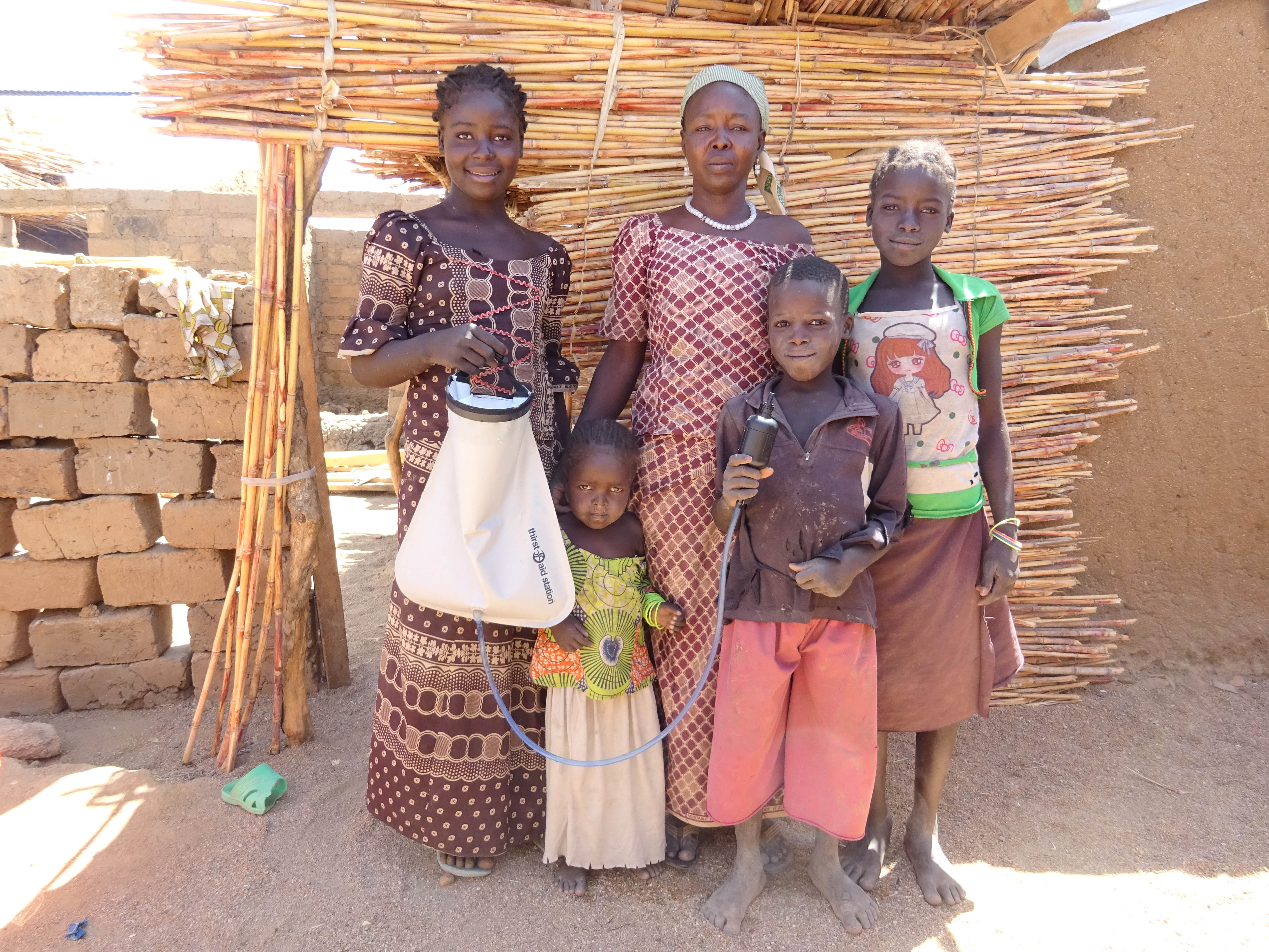 Maïramu and her four children in Cameroon are grateful for their water filter as it protects them from disease.