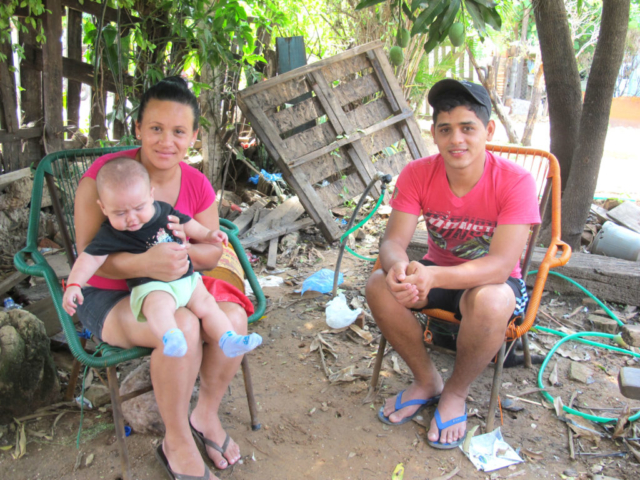 Sonia from Paraguay with her two boys